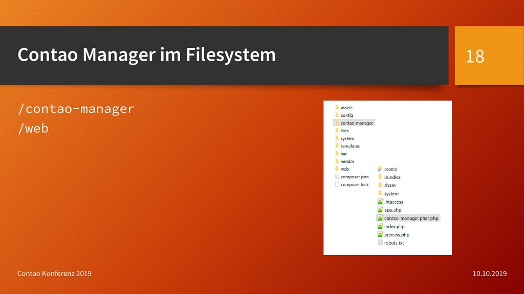 Contao Manager im Filesystem /contao-manager /w...