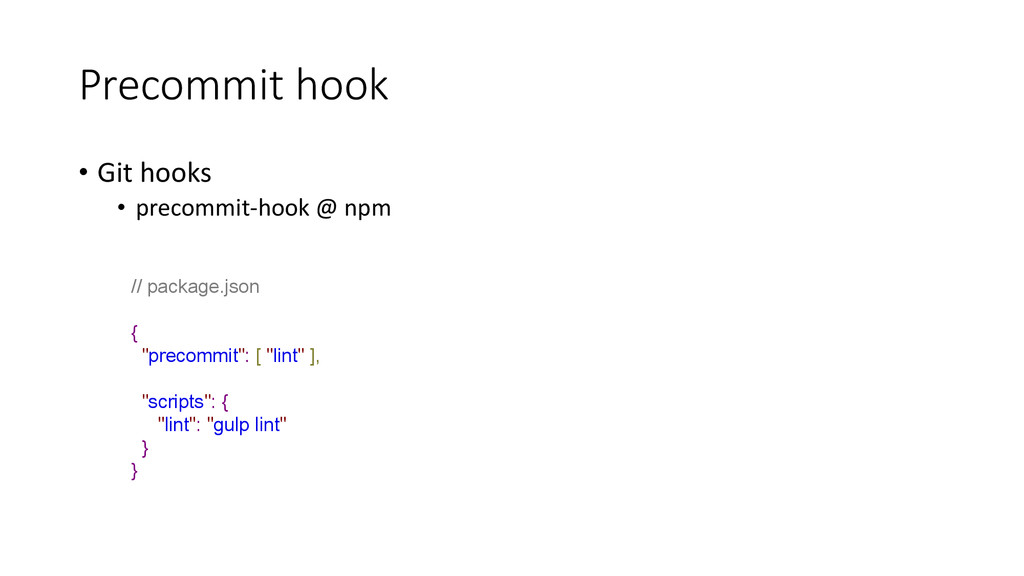 Precommit hook • Git hooks • precommit-hook @ n...