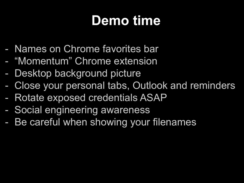 "- Names on Chrome favorites bar - ""Momentum"" Ch..."
