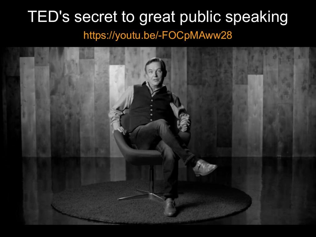TED's secret to great public speaking https://y...
