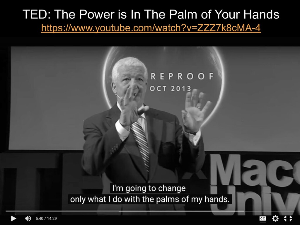 TED: The Power is In The Palm of Your Hands htt...
