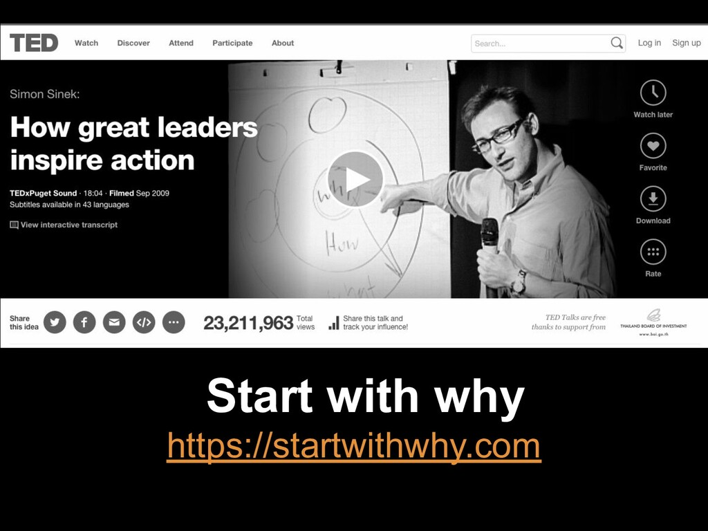 Start with why https://startwithwhy.com