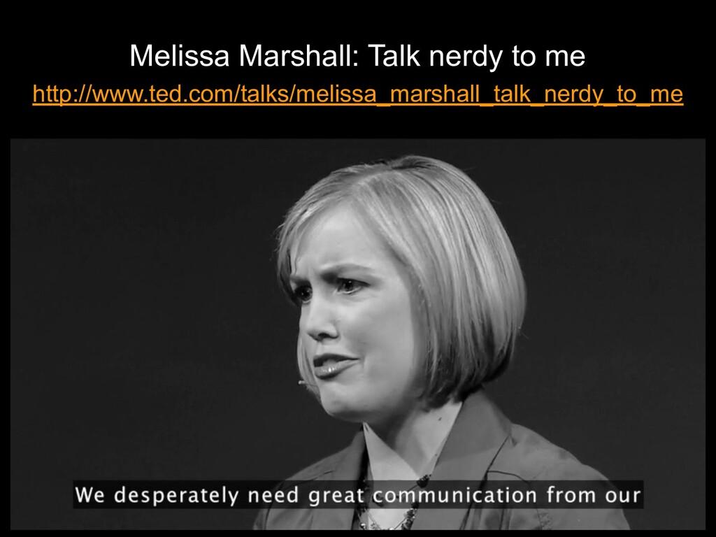 Melissa Marshall: Talk nerdy to me http://www.t...