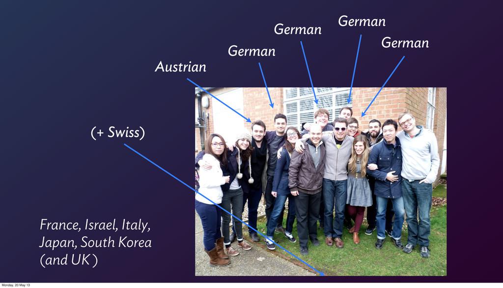 German German German German Austrian (+ Swiss) ...