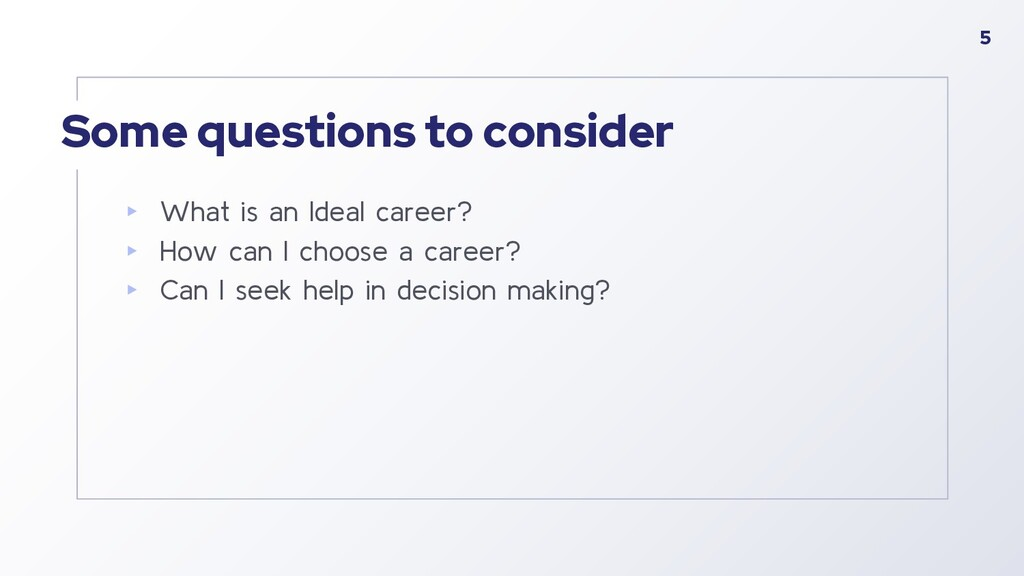 Some questions to consider ▸ What is an Ideal c...