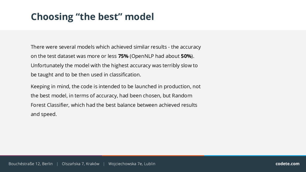 """Choosing """"the best"""" model There were several mo..."""