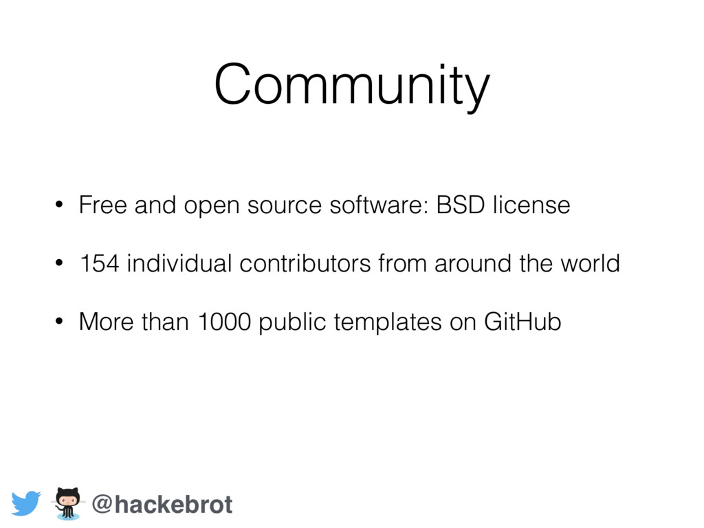 Community • Free and open source software: BSD ...