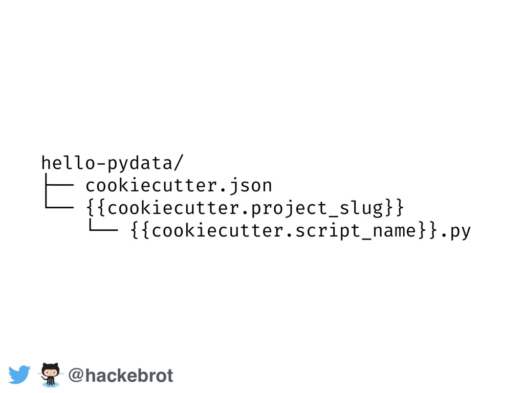 hello-pydata/ ├── cookiecutter.json └── {{cooki...