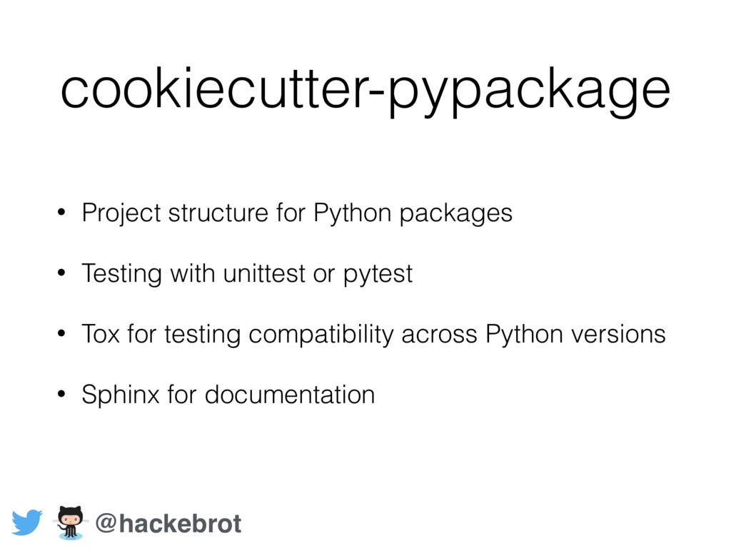 cookiecutter-pypackage • Project structure for ...