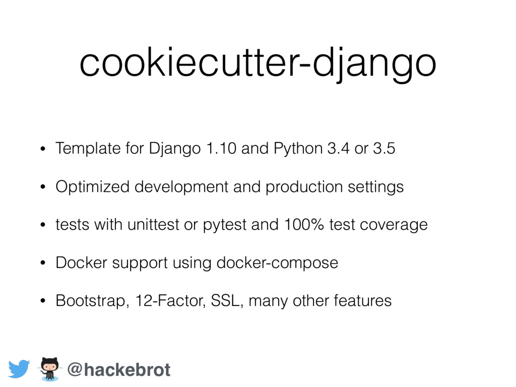 cookiecutter-django • Template for Django 1.10 ...