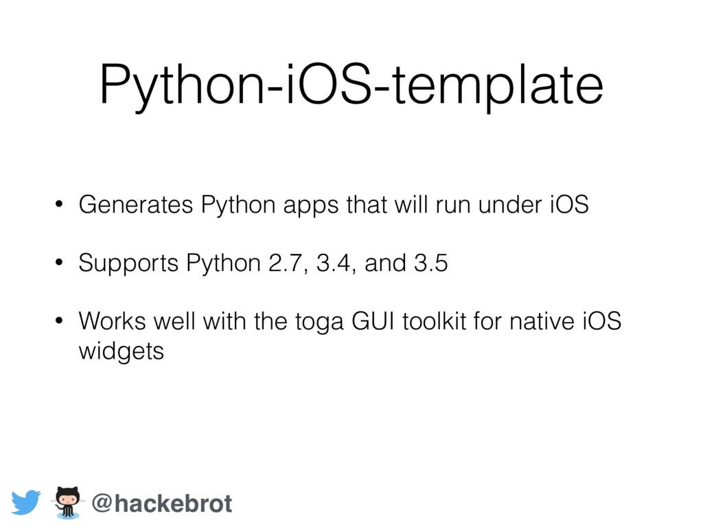 Python-iOS-template • Generates Python apps tha...