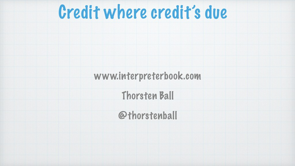 Credit where credit's due www.interpreterbook.c...