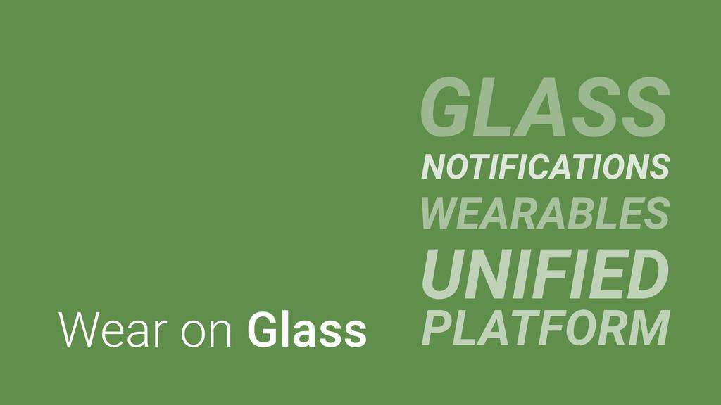 Wear on Glass GLASS NOTIFICATIONS WEARABLES UNI...