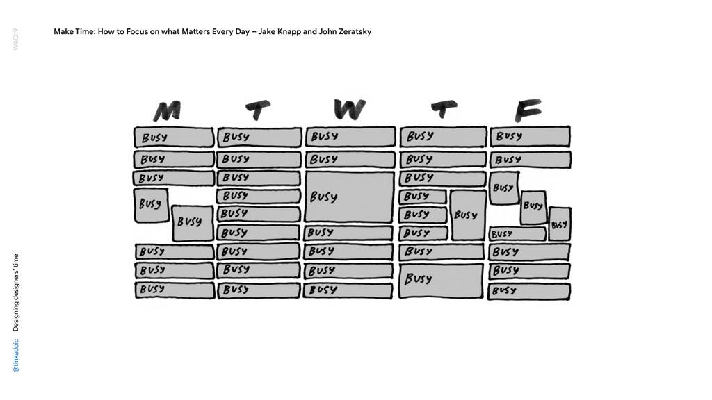 @tinkadoic Designing designers' time WAQ19 Make...