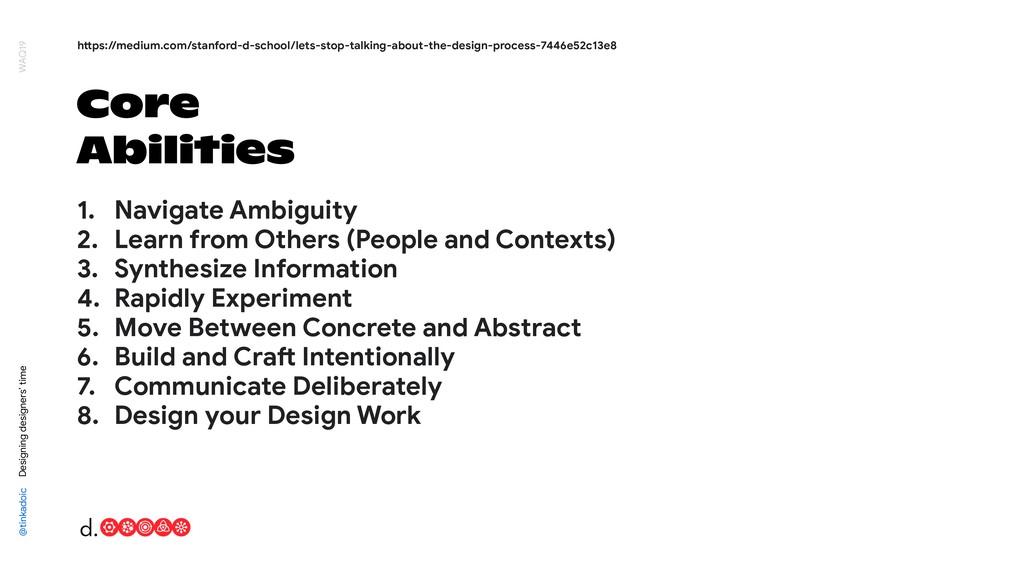 Core Abilities @tinkadoic Designing designers' ...