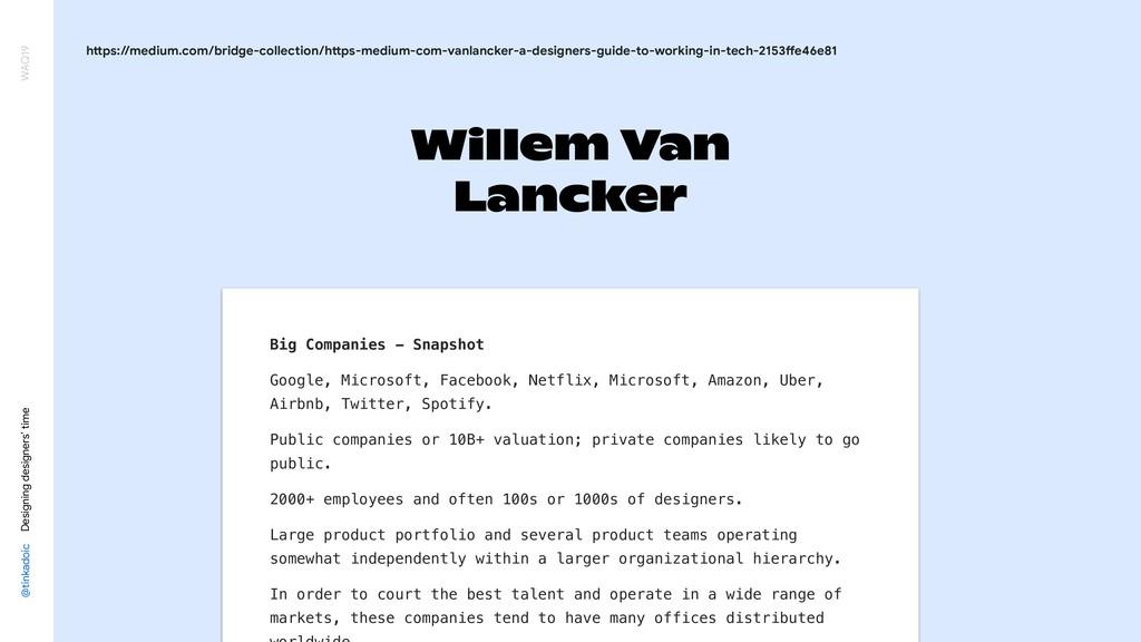 Willem Van Lancker @tinkadoic Designing designe...