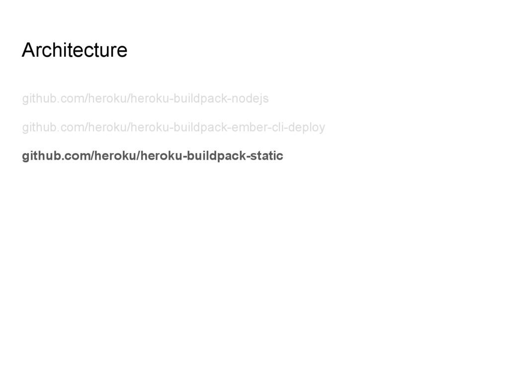 Architecture github.com/heroku/heroku-buildpack...