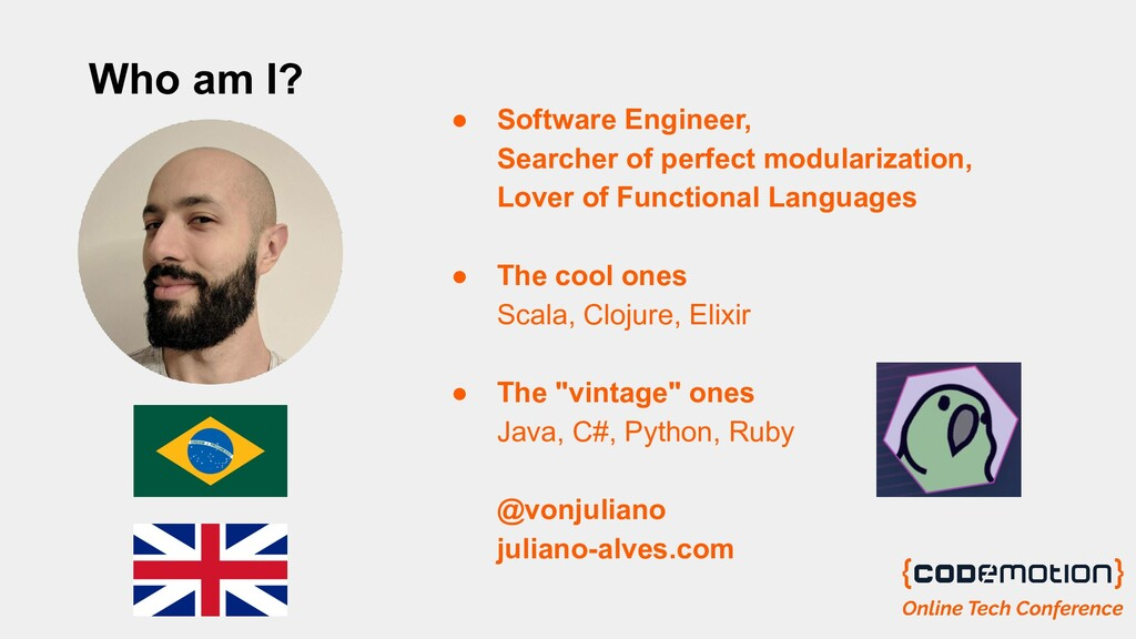 Who am I? ● Software Engineer, Searcher of perf...