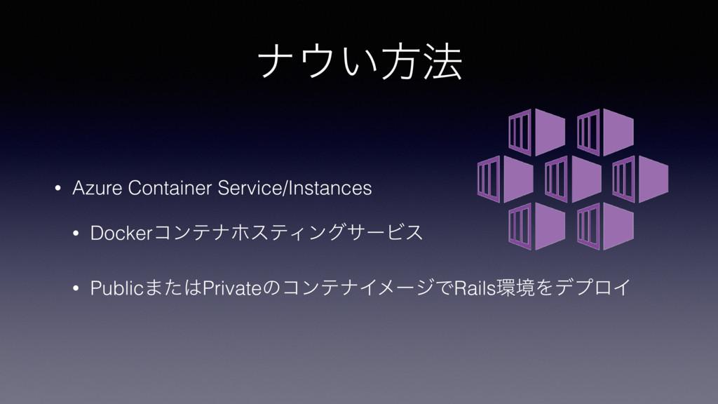 φ͍ํ๏ • Azure Container Service/Instances • Doc...
