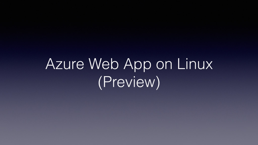 Azure Web App on Linux