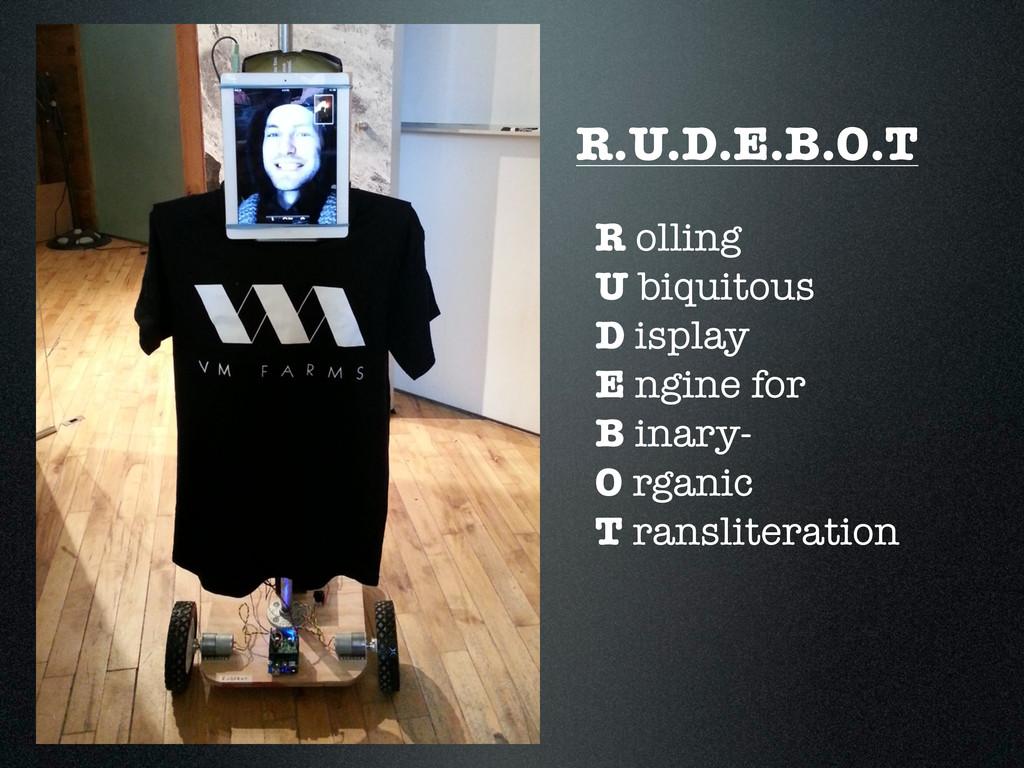 R.U.D.E.B.O.T R olling U biquitous D isplay E n...