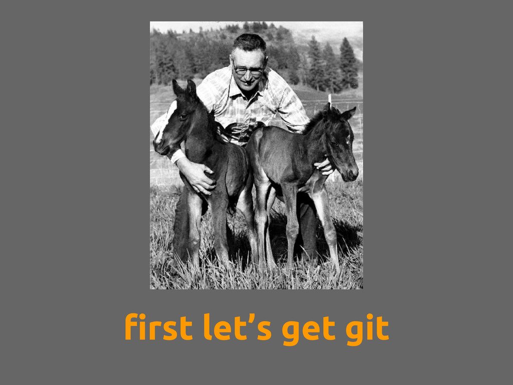 first let's get git