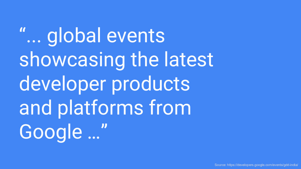 """... global events showcasing the latest develo..."