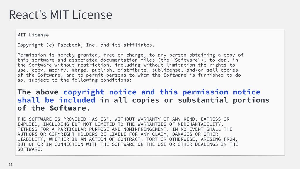 React's MIT License MIT License Copyright (c) F...