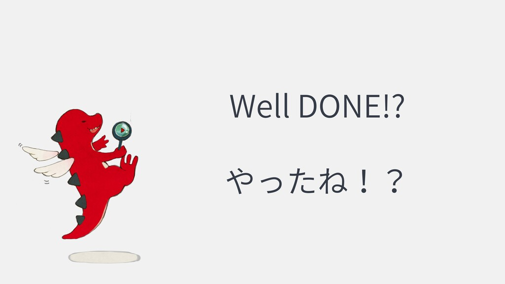 Well DONE!?