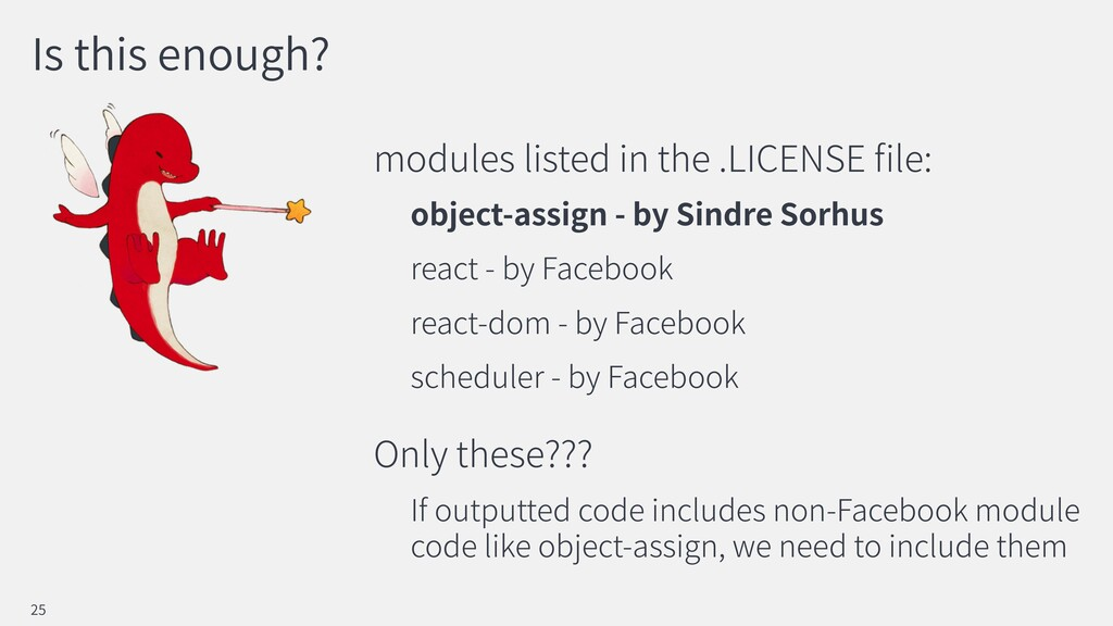 Is this enough? modules listed in the .LICENSE ...