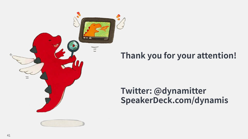 Thank you for your attention! Twitter: @dynamit...