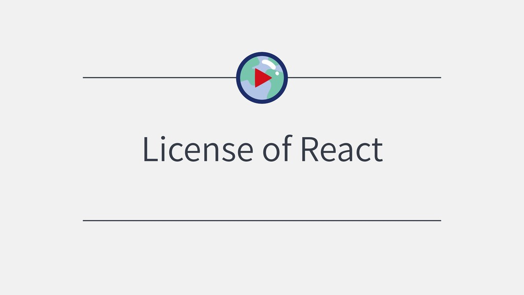 License of React