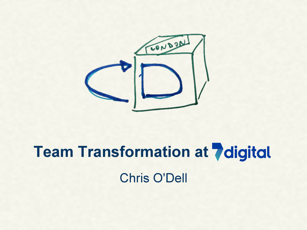 Team Transformation at Chris O'Dell