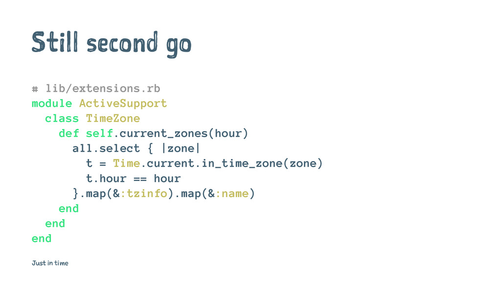 Still second go # lib/extensions.rb module Acti...