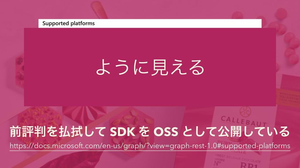 લධΛ১ͯ͠ SDK Λ OSS ͱͯ͠ެ։͍ͯ͠Δ https://docs.micro...
