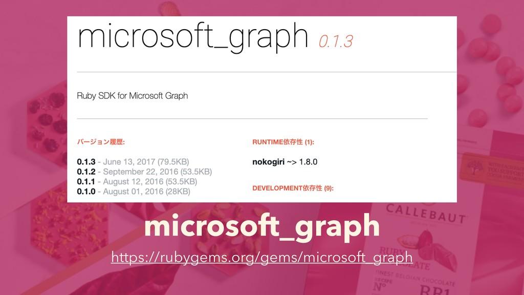 microsoft_graph https://rubygems.org/gems/micro...