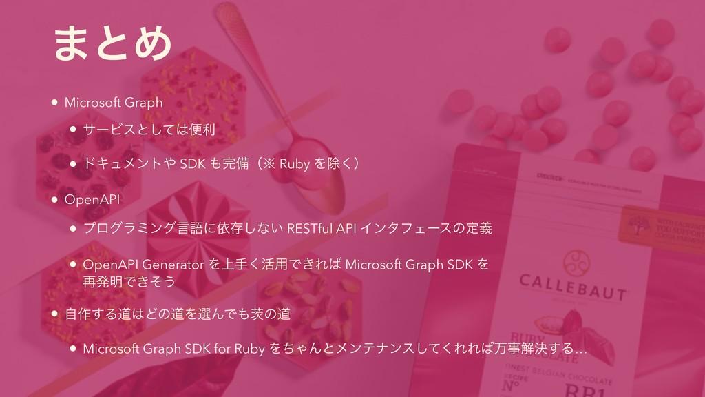 ·ͱΊ • Microsoft Graph • αʔϏεͱͯ͠ศར • υΩϡϝϯτ SD...