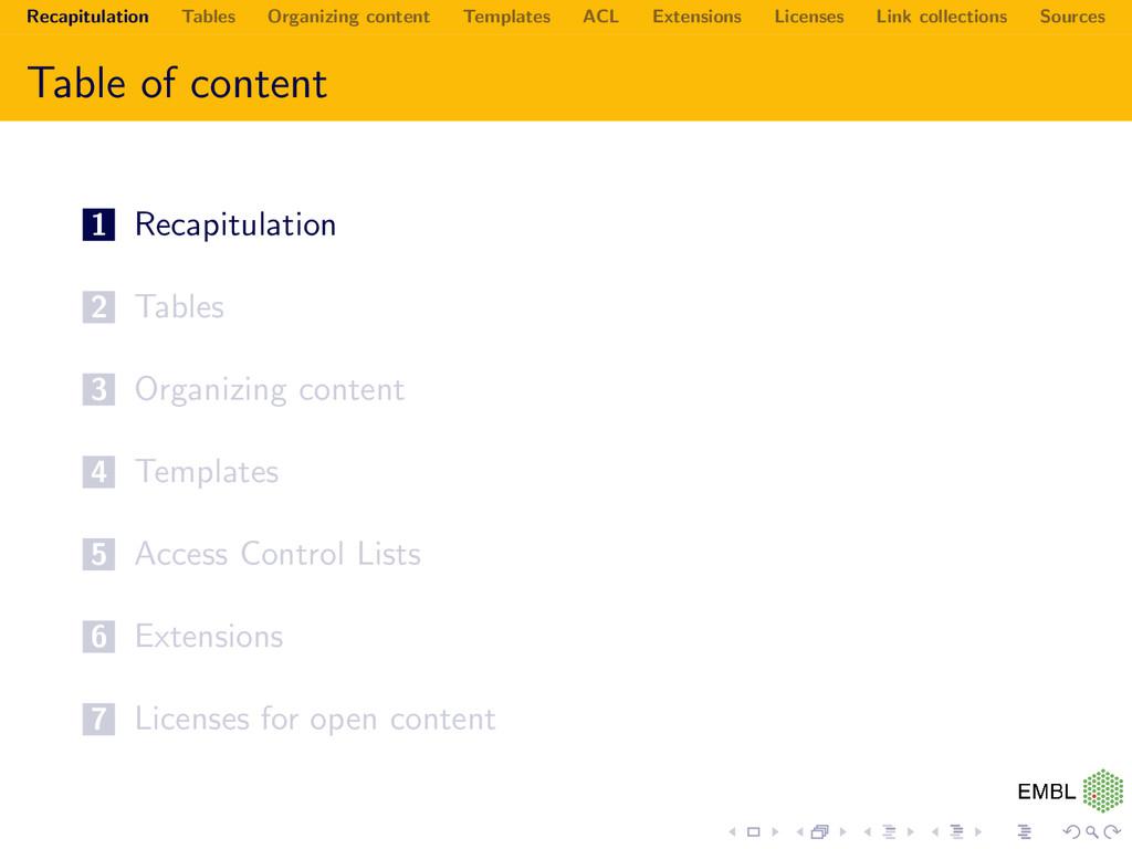 Recapitulation Tables Organizing content Templa...