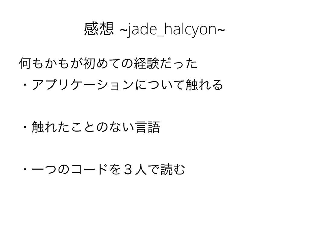 ײdjade_halcyond Կ͔͕ॳΊͯͷܦݧͩͬͨ ɾΞϓϦέʔγϣϯʹ͍ͭͯ...