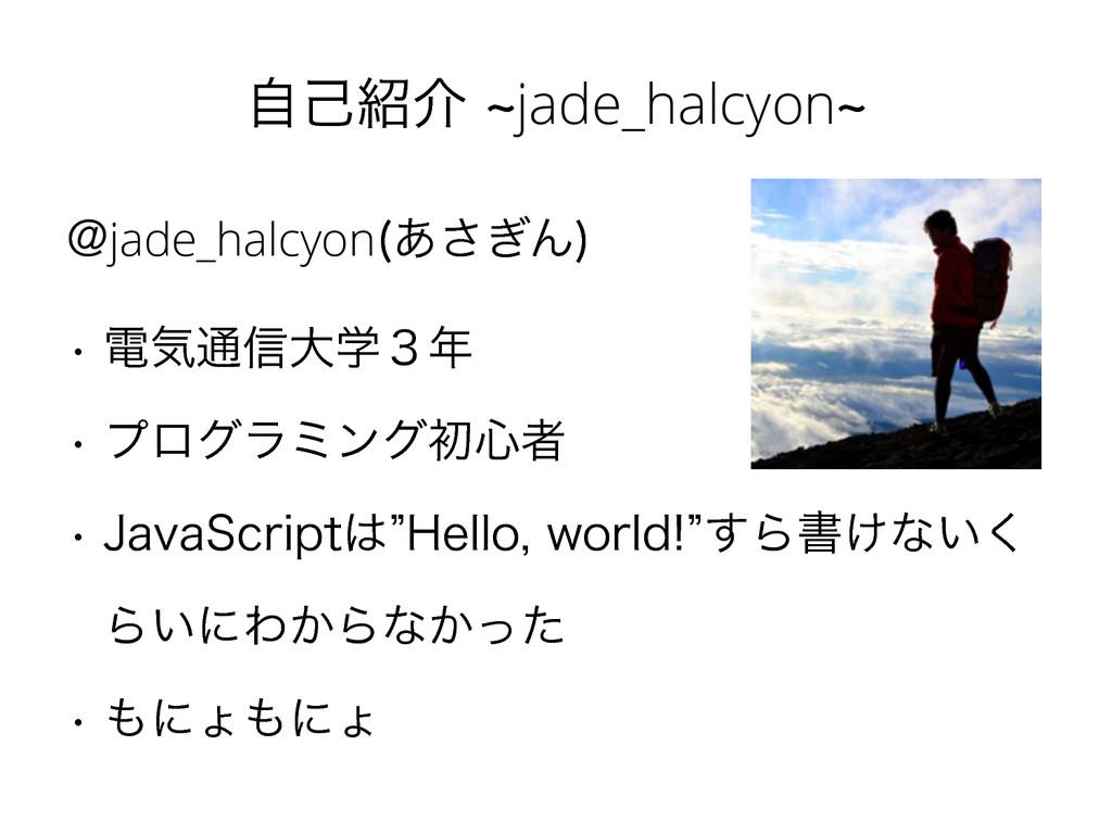ࣗݾհdjade_halcyond !jade_halcyon ͋͗͞Μ  w ిؾ௨৴...