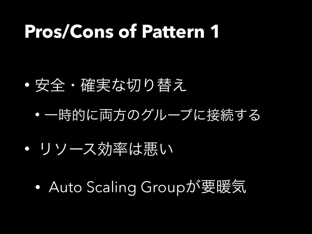 Pros/Cons of Pattern 1 • ҆શɾ࣮֬ͳΓସ͑ • Ұతʹ྆ํͷάϧ...