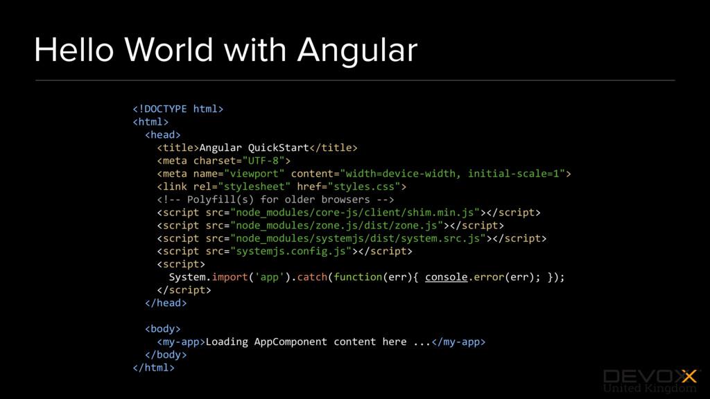 #DevoxxUK Hello World with Angular <!DOCTYPE ht...