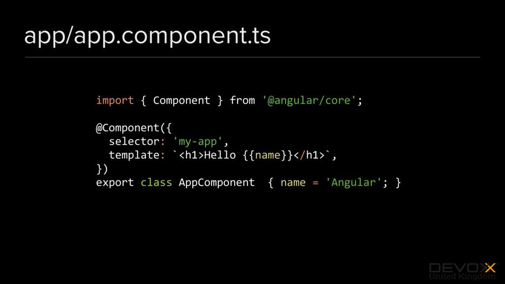 #DevoxxUK app/app.component.ts import { Compone...