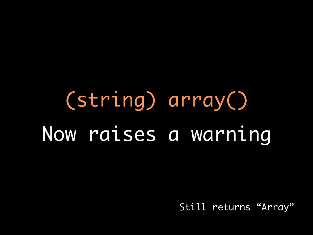 (string) array()