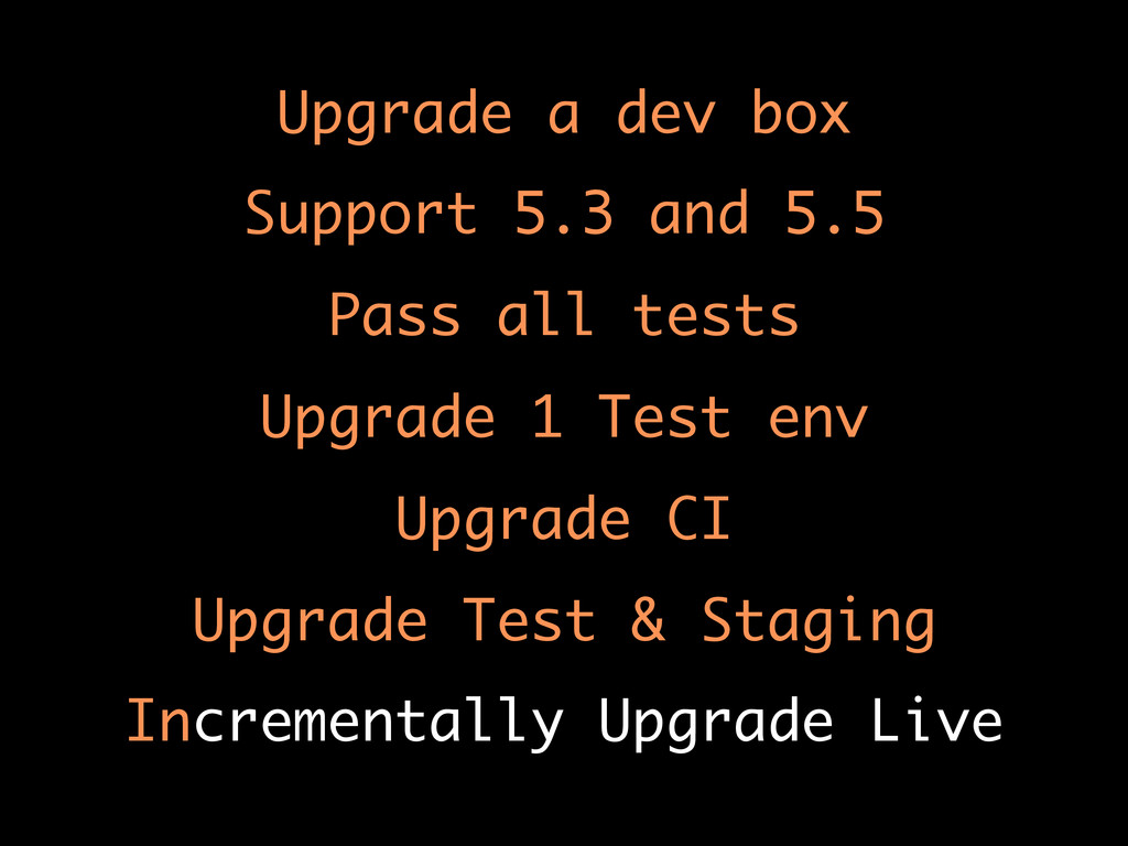 Upgrade a dev box