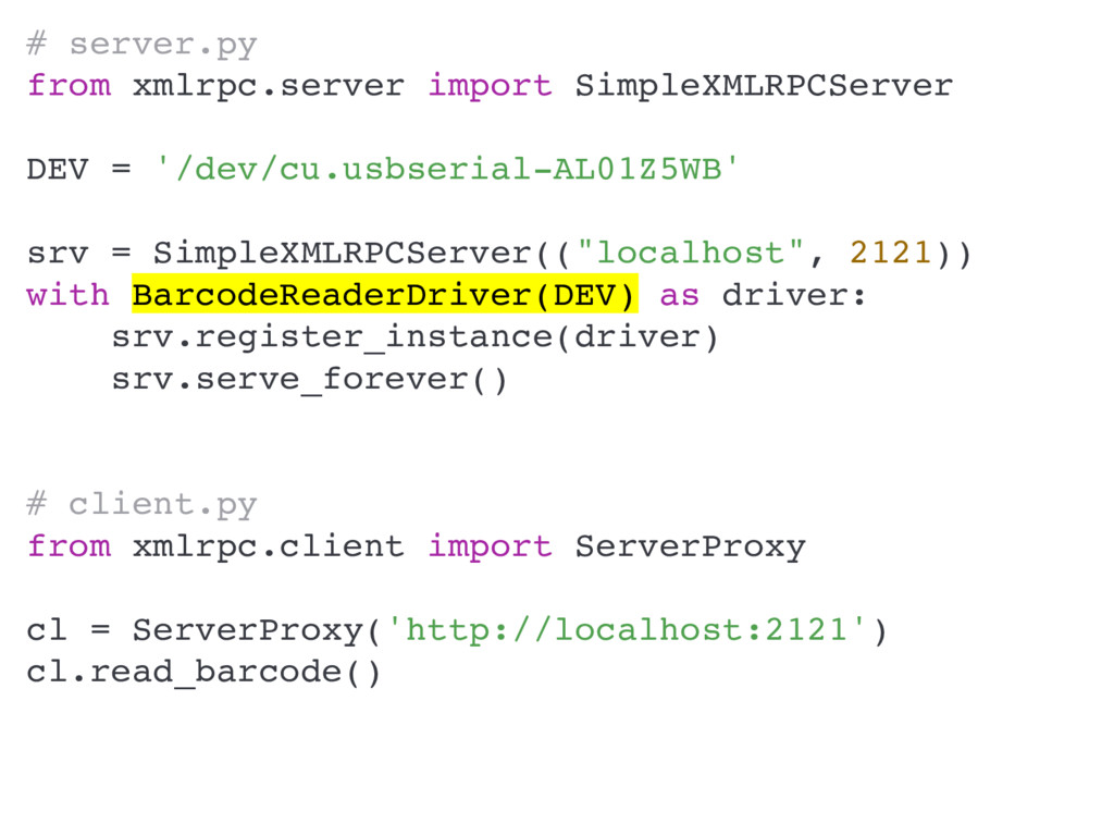 # server.py from xmlrpc.server import SimpleXML...