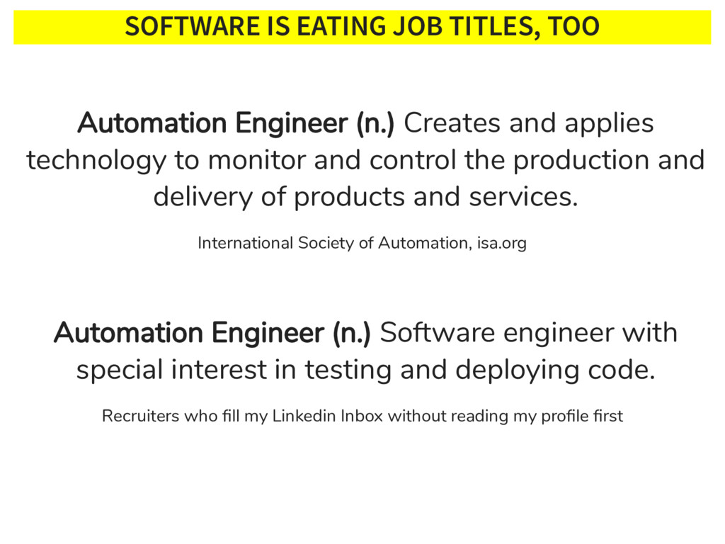 SOFTWARE IS EATING JOB TITLES, TOO Internationa...