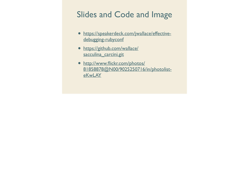 Slides and Code and Image • https://speakerdeck...