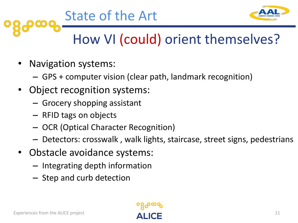 How VI (could) orient themselves? • Navigation ...