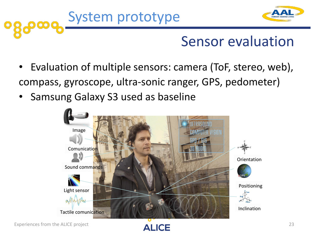 Sensor evaluation • Evaluation of multiple sens...